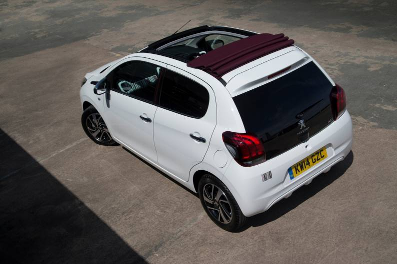 peugeot 108 top cabrio review car review rac drive. Black Bedroom Furniture Sets. Home Design Ideas