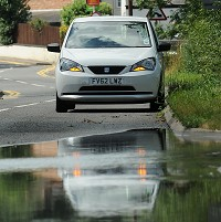 Flood chaos in West Yorks town