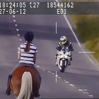 Biker banned for 104mph past horse