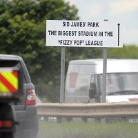 Road signs mock Newcastle's decent