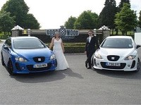 Newly-weds toast favourite car
