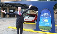 Solar car chargers come to Belfast
