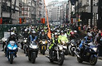 Bikers protest council parking tax