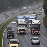 Tanker fire causes M56 gridlock