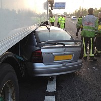 Driver walks away from lorry crash