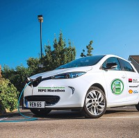 Electric cars feature in MPG race