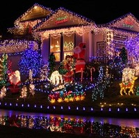 Drivers slow down for festive homes