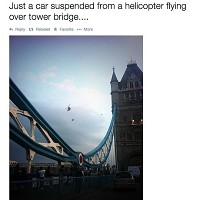 'Flying car' surprise for Londoners