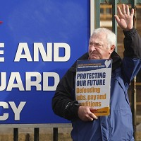 Coastguards strike against closures
