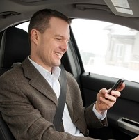 Mobiles causing driver distraction