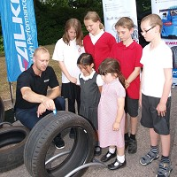 Tyre test teaches safety lesson