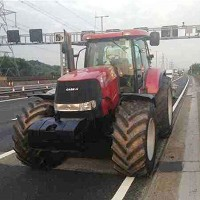 Tractor seized after motorway drive
