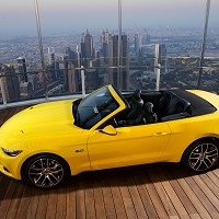 New Mustang is on top of the world