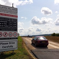 Private toll road used 100,000 times