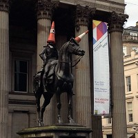 Statue's iconic 'cone head' saved