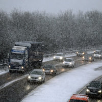 Snow causes problems on northern roads