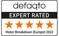 Defaqto 5 star rating for RAC European Breakdown Cover.