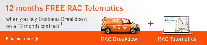 12 months FREE RAC Telematics when you buy business breakdown