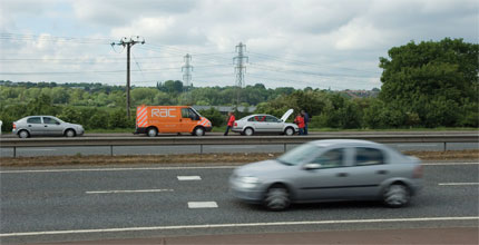 RAC motorway breakdown image