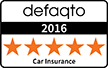 Our comprehensive Car Insurance Plus product has a 5 Star Rating from Defaqto