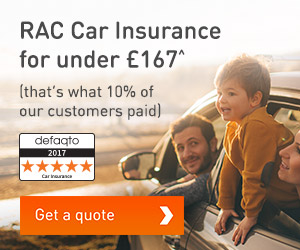 RAC Car Insurance for under £172