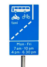 Bus lane sign