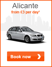 Alicante from £3 per day