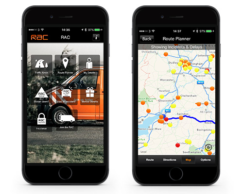 RAC Mobile Traffic Apps.